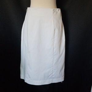 Worthington Skirts - 🌈 Worthington White stretch pencil skirt ruffle